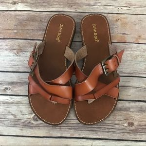 NWOB Bamboo Strappy Slip on Sandals